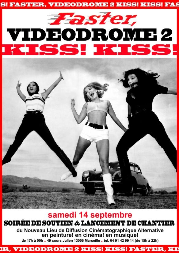 V2 soirée kiss kiss affiche R