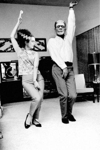 Elsa Lanchester et Boris Karloff